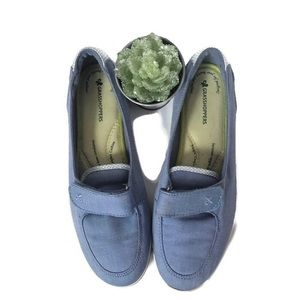 Grasshopppers Ortholite Denim Slip On Shoes SZ 6